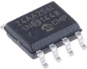 24AA256-I/SN, Микросхема памяти, EEPROM, 256Kb (32K x 8), I2C, 400кГц [SOIC-8]