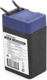 Фото 1/3 Аккумулятор свинцово-кислотный GoPower LA-403 4V 0.3Ah