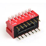 DS1040-07RT, DIP переключатель 7pin угловой красный