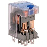 C7-T21DX/024VDC, C7-T21 DPDT Non-Latching Relay Plug In, 24V dc Coil, 6A