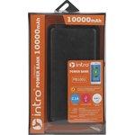 PB1001 USB зарядки_25 Intro Power Bank 10 000 mAh, black leather