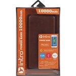PB1001 USB зарядки_25 Intro Power Bank 10 000 mAh, brown leather