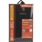 WPB8000 USB зарядки_25 Intro Wireless charger+Power bank 8000 mAh, black