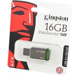 KINGSTON USB 3.1/3.0/2.0 16GB DataTraveler DT50 металл с ...