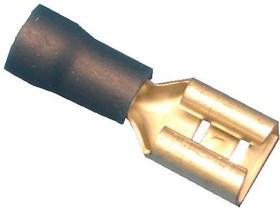 KLS8-01106-FDD2-205, Клемма ножевая, розетка, провод 1.5-2.5 (синяя) для вилки 5,3мм