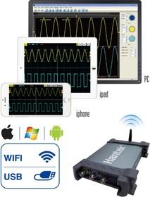 Фото 1/3 iDSO1070A, USB/WIFI осциллограф, 2 канала х 70МГц
