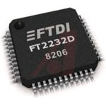 Фото 2/2 FT2232D-TRAY, Преобразователь USB в два порта UART [LQFP-48]