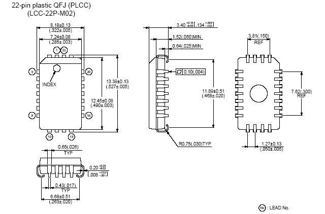 PLCC22